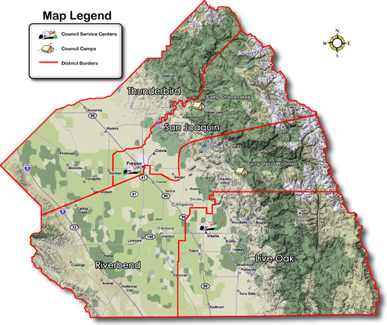 Map of Council County Outlines